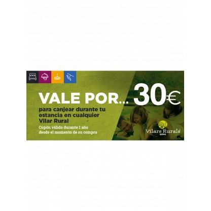 Val de 30€ per a la teva estada al Vilar